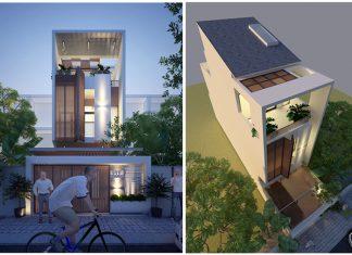 Mẫu Nhà Phố 3 Tầng Phong Cách Hiện Đại 5x20m