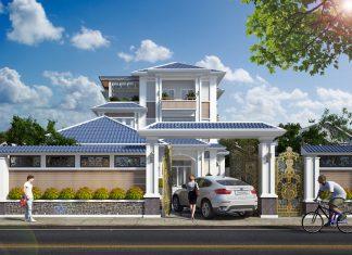 Thiết Kế Villa 3 Tầng Sân Vườn Theo Phong Cách Hiện Đại 2018