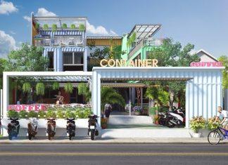 Thiết Kế Quán Cafe Sân Vườn Bằng Container Độc Đáo