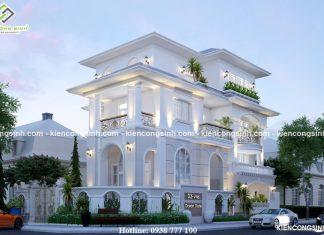 Mẫu thiết kế biệt thự 3 tầng tân cổ điển tại Phan Thiết