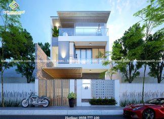 Thiết kế biệt thự 3 tầng mặt tiền 8m tại Phan Thiết
