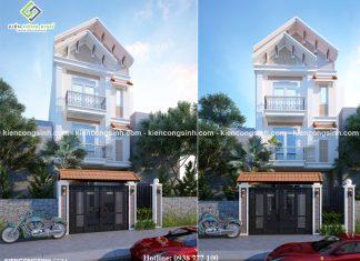 Mẫu thiết kế nhà phố mặt tiền 5m tại Bình Thuận