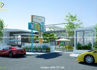 Mẫu thiết kế quán cafe phố Motel tại Phan Thiết