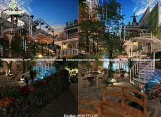 Thiết kế quán cafe sân vườn đẹp tại Quy Nhơn