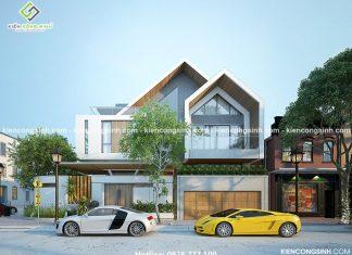 Mẫu thiết kế villa 2 tầng anh Thành tại Pleiku