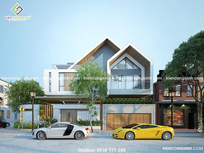 thiết kế villa biệt thự 2 tầng gia lai
