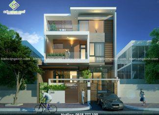 Biệt thự phố hiện đại mặt tiền 8m anh Hải tại Gia Lai