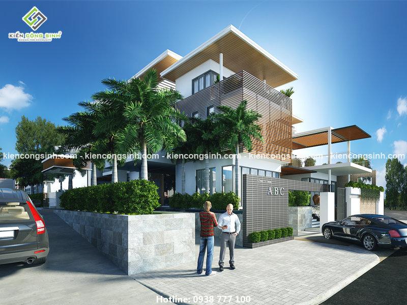 thiết kế biệt thụ villa văn phòng tại kontum