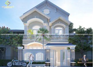 Mẫu thiết kế biệt thự phố 2 tầng mặt tiền 7m tại Phan Thiết