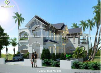 Thiết kế biệt thự 2 tầng anh Kháng Đồng Nai
