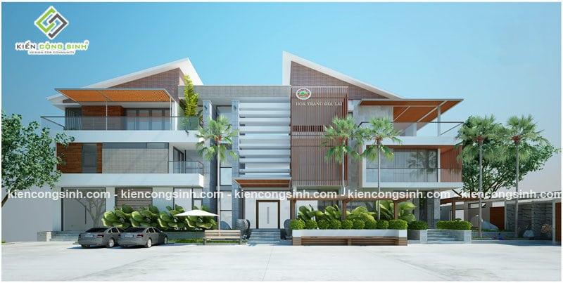 thiết kế biệt thự villa gia lai