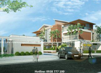Mẫu thiết kế biệt thự villa đẹp hiện đại tại Gia Lai