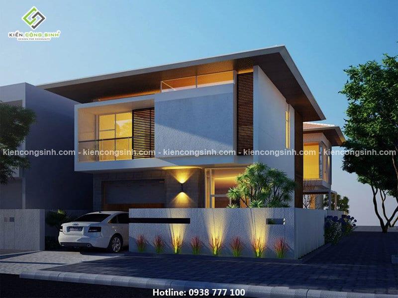 thiết kế villa 2 tầng