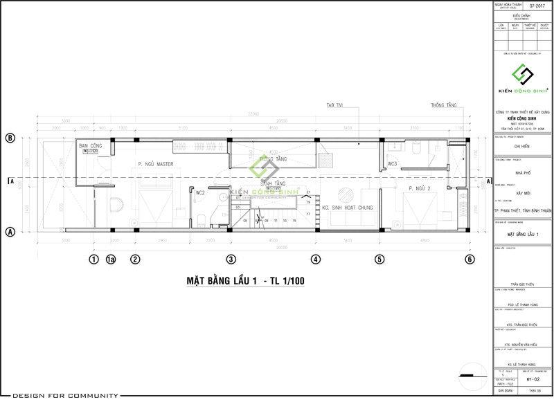 thiết kế nhà ống 3 tầng mặt tiền 5m