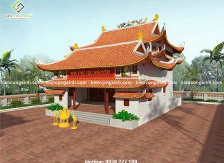Thiết kế nhà thờ họ Nguyễn tại Củ Chi