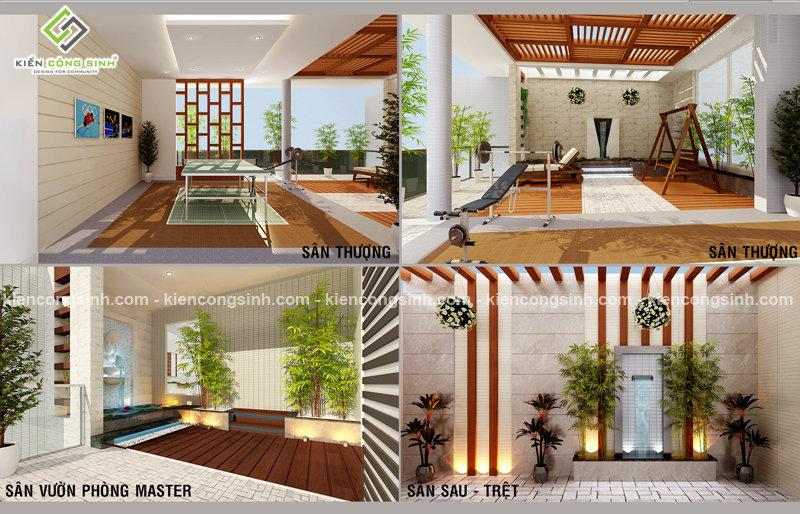 thiết kế nội thất biệt thự phố 3 tầng