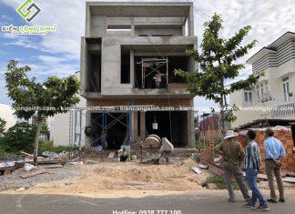 Xây dựng biệt thự phố 3 tầng mặt tiền 8m anh Quang