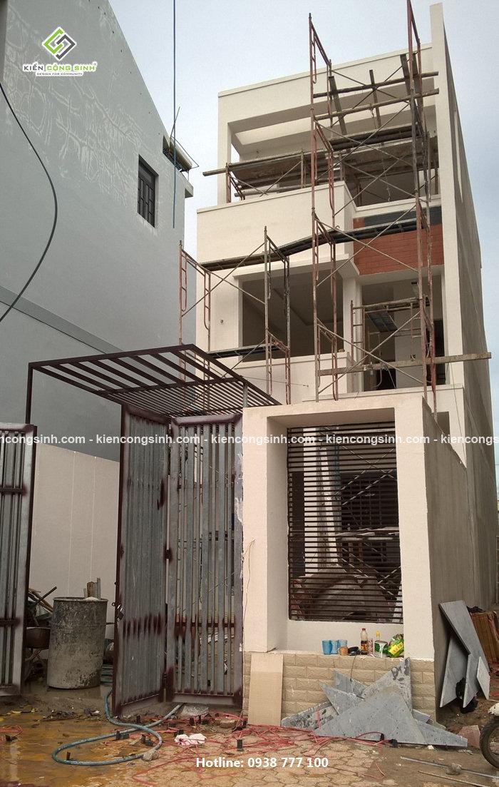 thi công xây nhà ống 3 tầng hiện đại đẹp