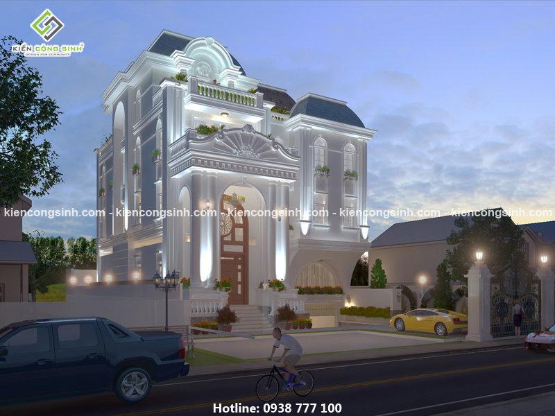 thiết kế biệt thự tân cổ điển tại Thủ Đức