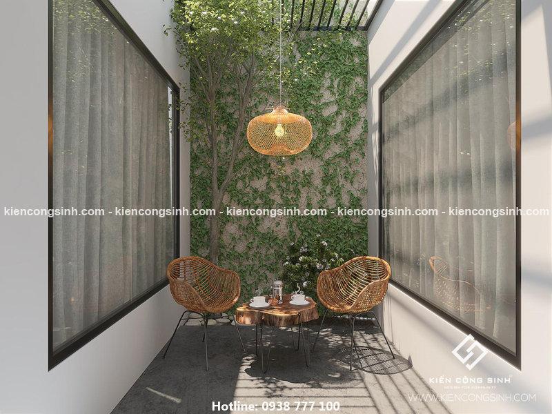 mẫu nhà phố 2 tầng mặt tiền 5m đẹp
