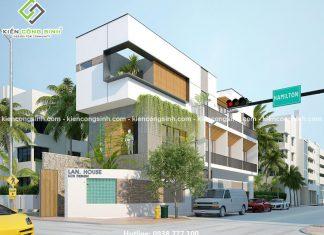 Thiết kế nhà phố hiện đại 2 mặt tiền chị Lan tại Phan Thiết