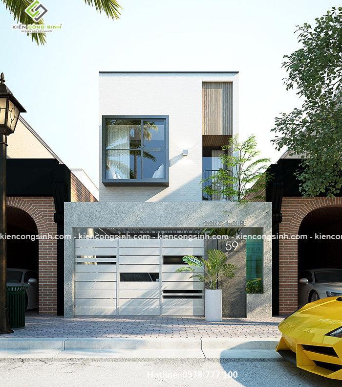 thiết kế nhà phố 2 tầng tại cần thơ