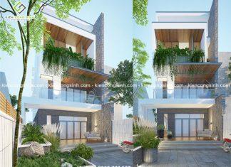 Thiết kế nhà phố 3 tầng hiện đại chị Hợp tại Quận 9