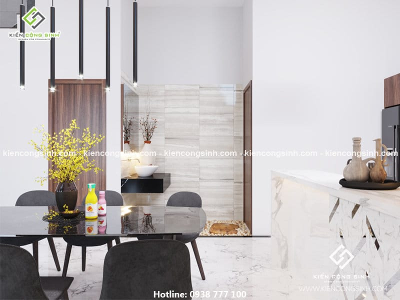 thiết kế nội thất phòng khách chị Lan