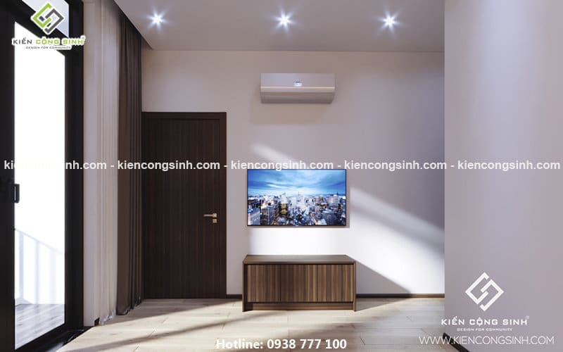 thiết kế nội thất phòng ngủ chị Lan