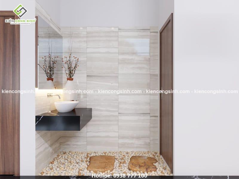 thiết kế nội thất phòng wc chị Lan