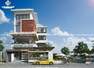 Thiết kế quán cafe 24G kết hợp văn phòng làm việc tại Bình Định