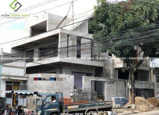 Công tác thi công xây tô hoàn thiện villa Anh Thành