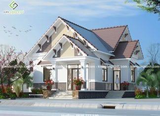 12 mẫu thiết kế biệt thự mini cấp 4 mái ngói đẹp