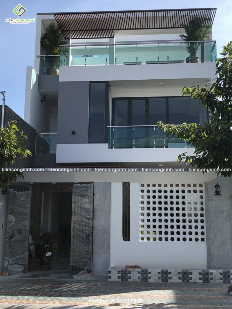 Thi công biệt thự phố hiện đại 3 tầng
