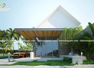 Mẫu thiết kế biệt thự nhà vườn tại Hà Tĩnh