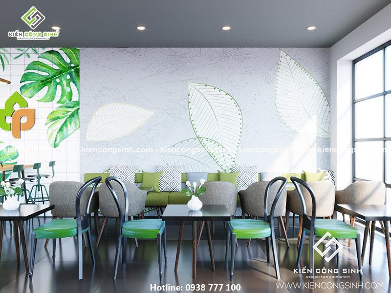 thiết kế quán coffee tea tại Bình Dương