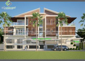 Thiết kế biệt thự 3 tầng kết hợp văn phòng làm việc tại Daklak