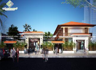 Thiết kế nhà hàng kết hợp quán cafe tại Hưng Yên