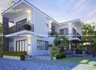 Thi công xây dựng biệt thự phố 2 tầng tại Phan Thiết