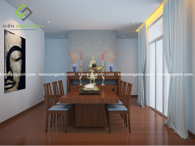 Thiết kế nội thất bằng gỗ cho biệt thự