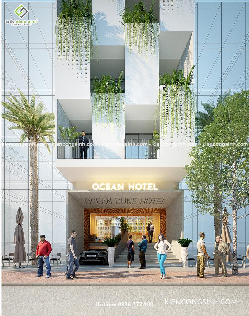 thiết kế nhà nghỉ hotel phan thiết