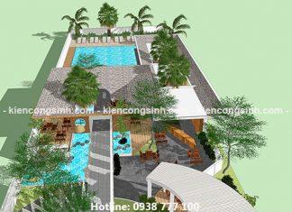 Dự án thiết kế khu phức hợp cafe và dịch vụ bể bơi