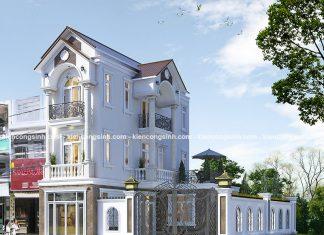 Mẫu thiết kế nhà phố 3 tầng mái ngói tại Phan Thiết