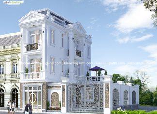 Mẫu thiết kế biệt thự phố tân cổ điển 3 tầng đẹp