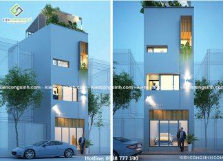 Tư vấn thiết kế nhà phố 4 tầng tại Thủ Đức