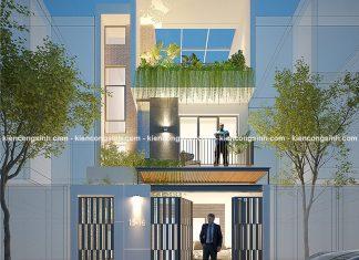 Mẫu thiết kế nhà phố hiện đại mặt tiền 6m tại Bình Định