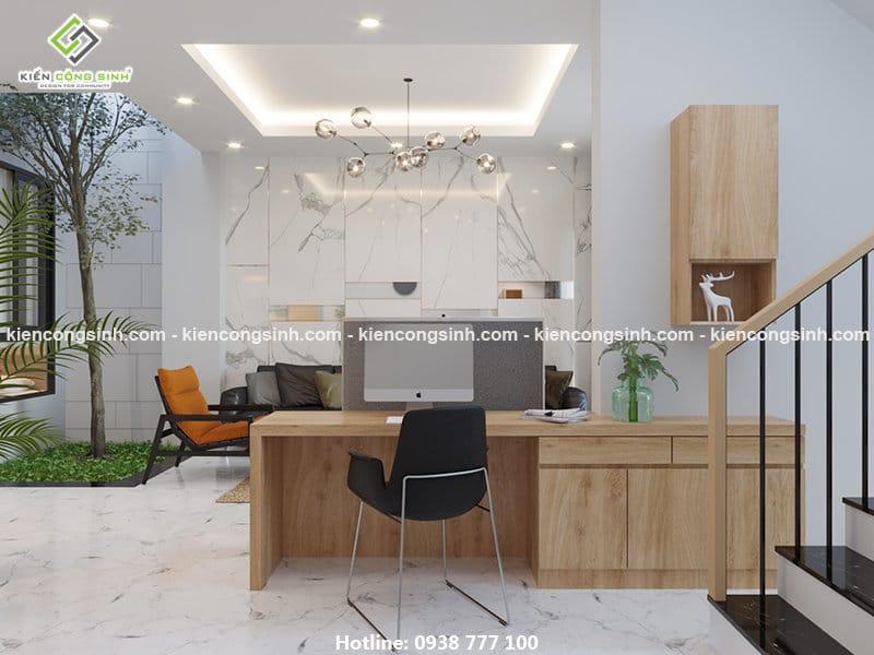 Thiết kế nội thất phòng khách nhà phố 3 tầng
