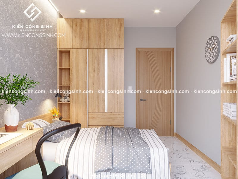 Thiết kế nội thất phòng ngủ nhà phố 3 tầng