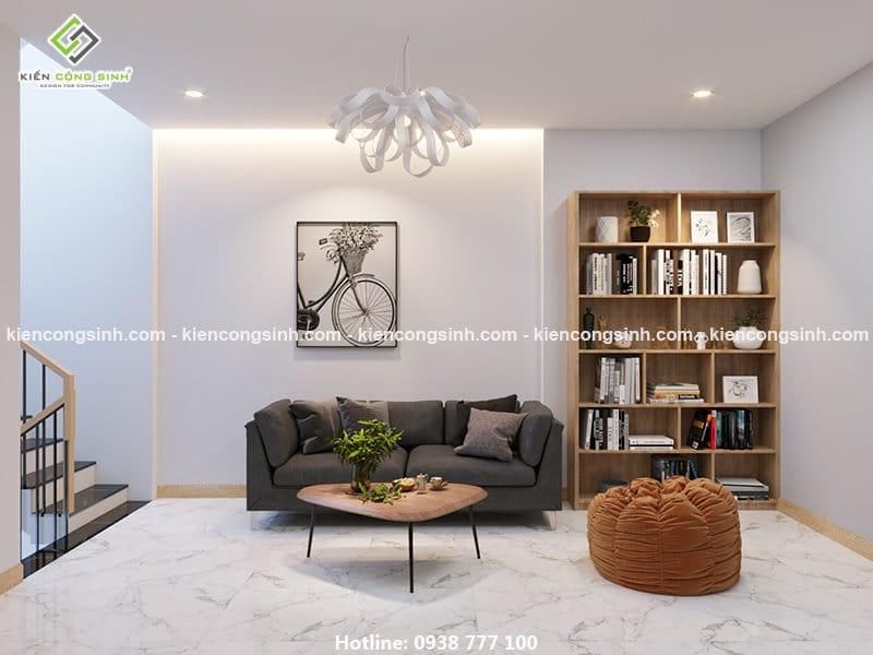 Thiết kế nội thất phòng shc nhà phố 3 tầng