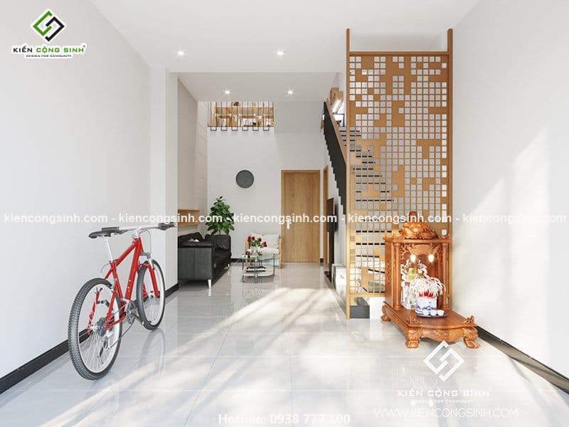 Nội thất phòng khách nhà phố tại Thủ Đức